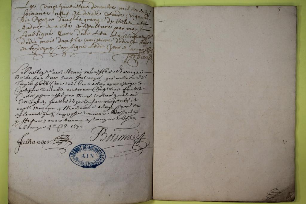St André de Corcy AD BMS 1669-1730 vue 009