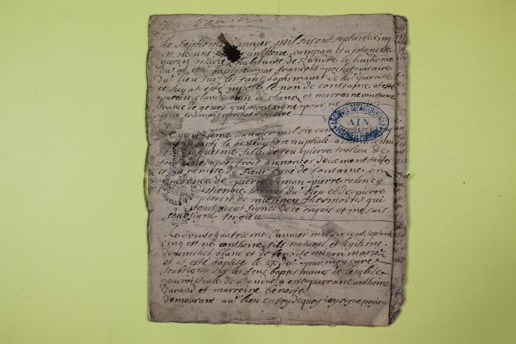 St André de Corcy AD BMS 1669-1730 vue 010