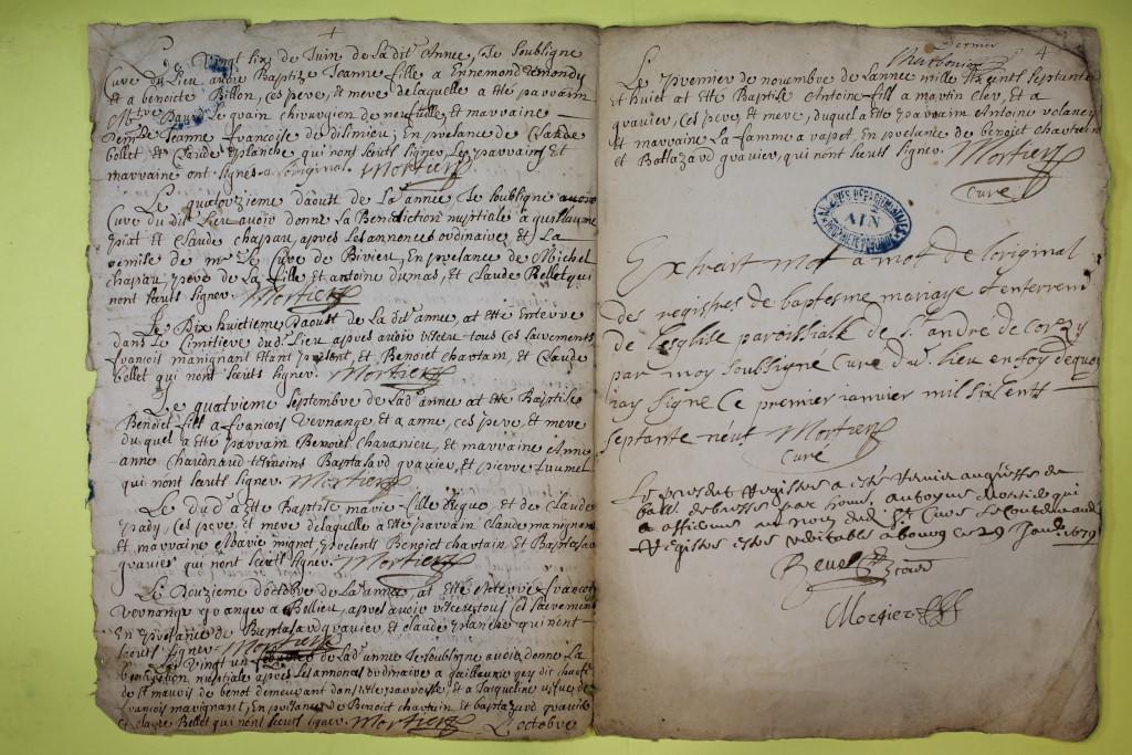 St André de Corcy AD BMS 1669-1730 vue 026