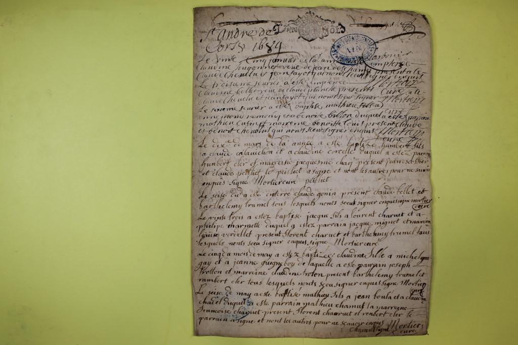 St André de Corcy AD BMS 1669-1730 vue 055