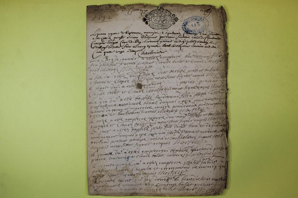 St André de Corcy AD BMS 1669-1730 vue 063