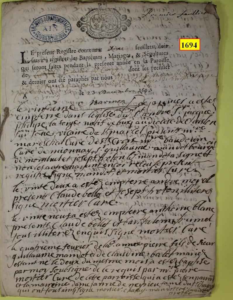 St André de Corcy AD BMS 1669-1730 vue 074