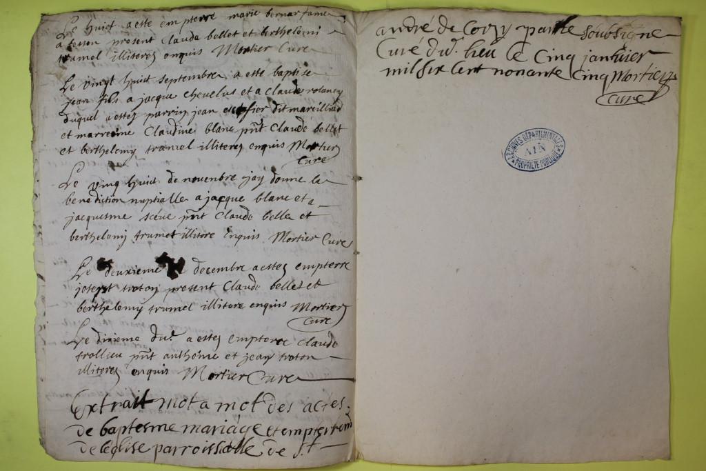 St André de Corcy AD BMS 1669-1730 vue 076