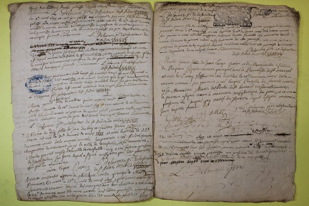 St André de Corcy AD BMS 1669-1730 vue 091
