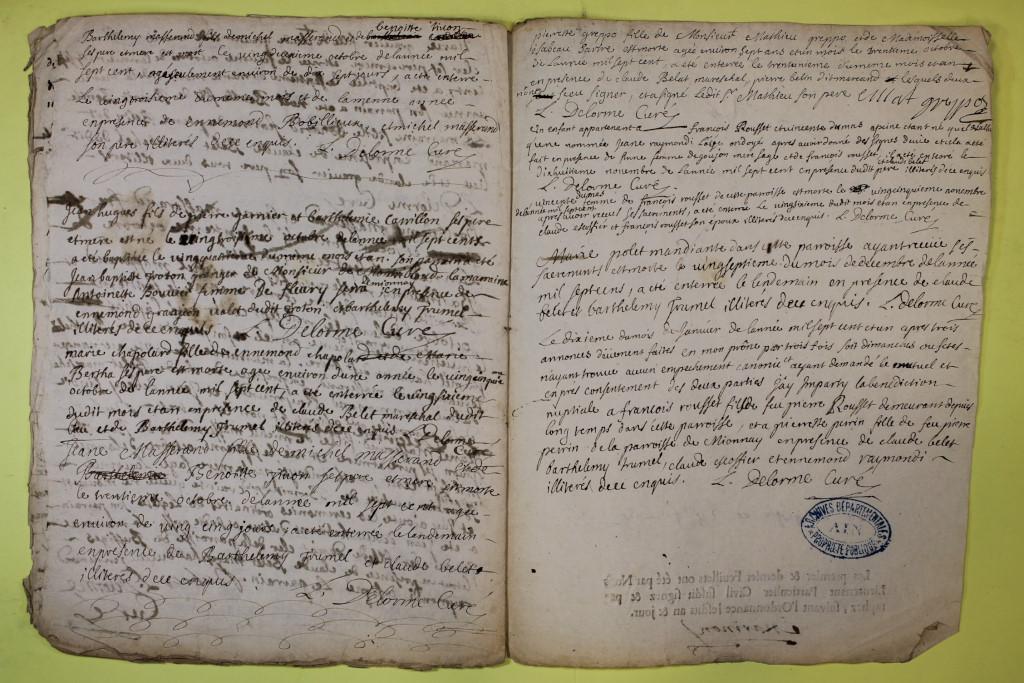 St André de Corcy AD BMS 1669-1730 vue 098