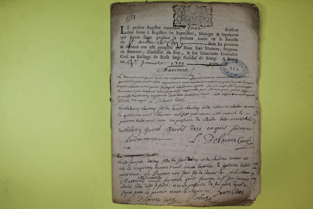 St André de Corcy AD BMS 1669-1730 vue 099