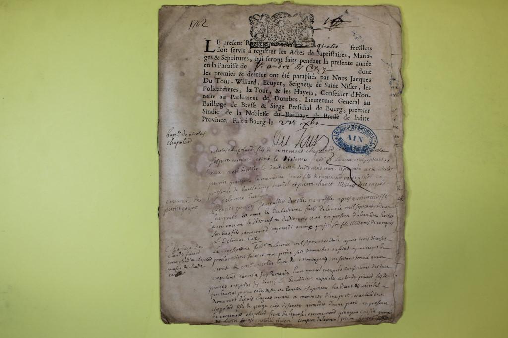 St André de Corcy AD BMS 1669-1730 vue 103
