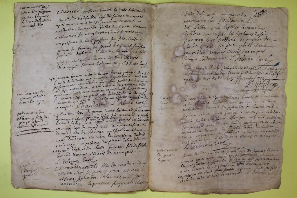 St André de Corcy AD BMS 1669-1730 vue 105