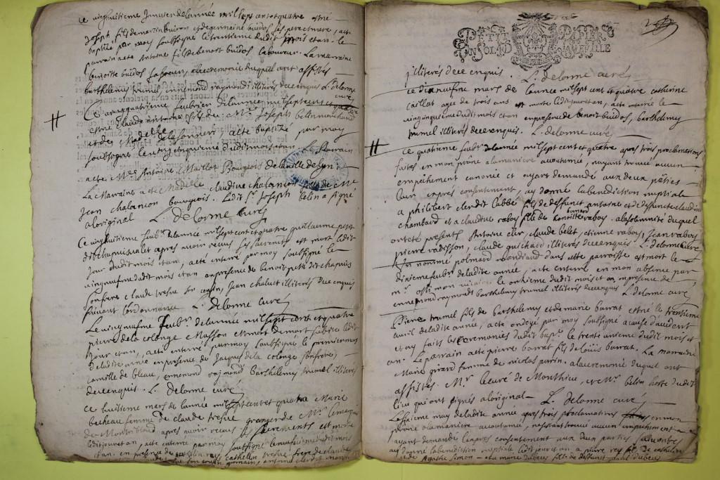 St André de Corcy AD BMS 1669-1730 vue 113