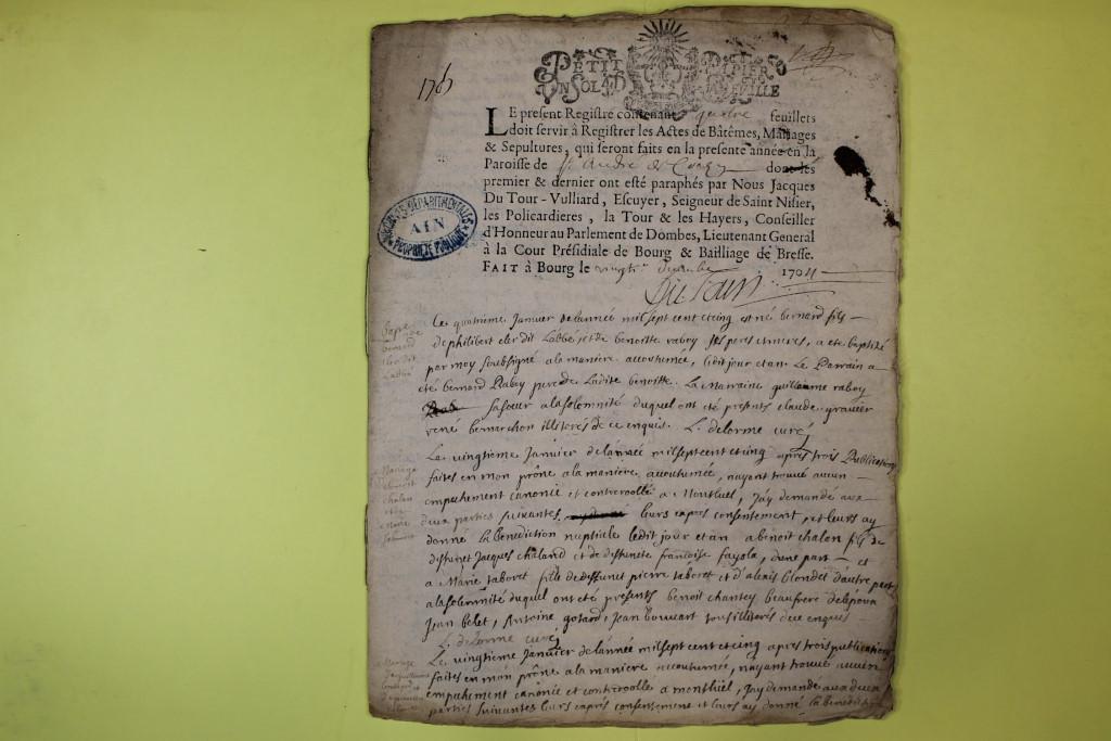 St André de Corcy AD BMS 1669-1730 vue 117