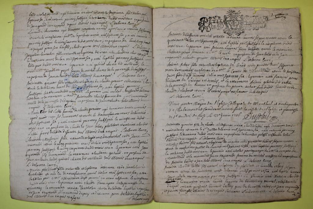 St André de Corcy AD BMS 1669-1730 vue 122