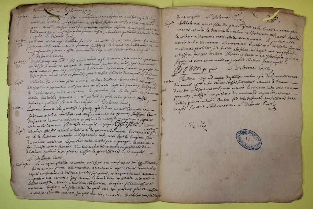 St André de Corcy AD BMS 1669-1730 vue 133