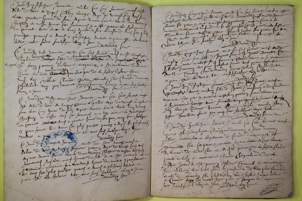 St André de Corcy AD BMS 1669-1730 vue 005