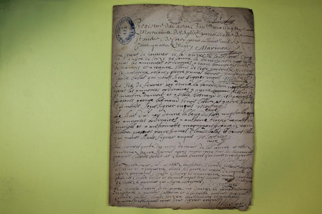 St André de Corcy AD BMS 1669-1730 vue 031