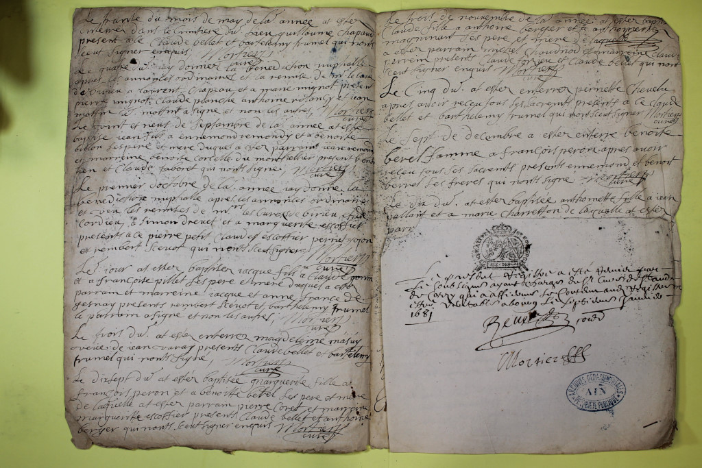 St André de Corcy AD BMS 1669-1730 vue 033