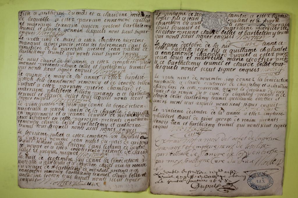 St André de Corcy AD BMS 1669-1730 vue 052
