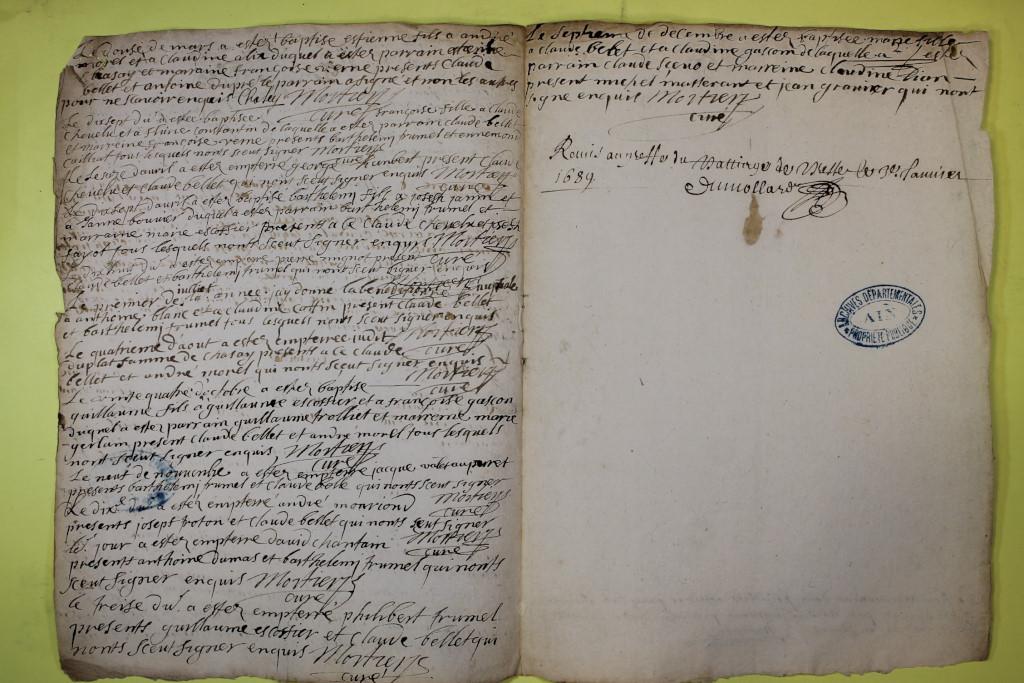 St André de Corcy AD BMS 1669-1730 vue 054