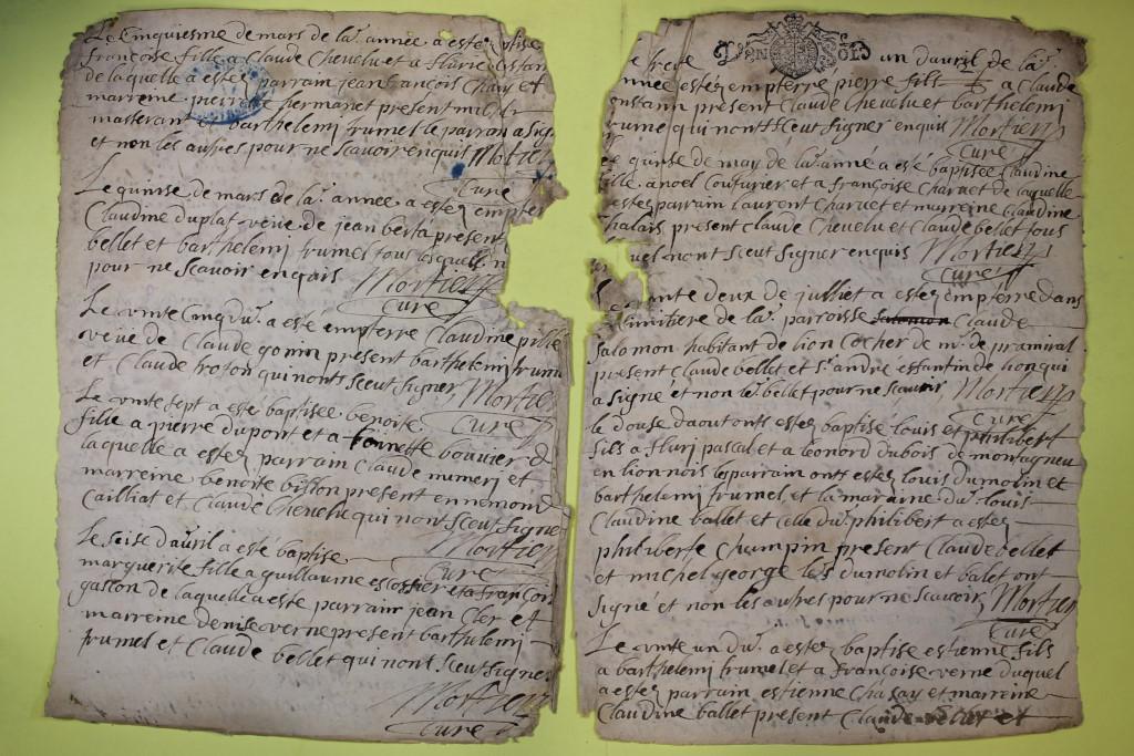 St André de Corcy AD BMS 1669-1730 vue 059