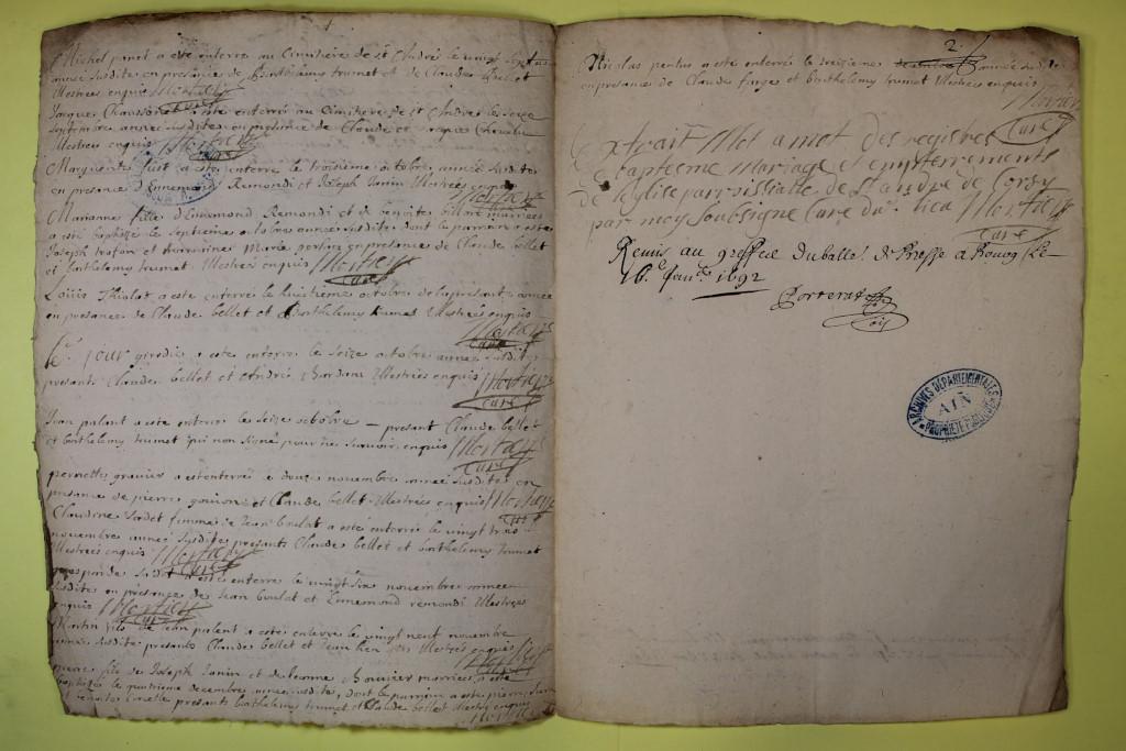 St André de Corcy AD BMS 1669-1730 vue 062