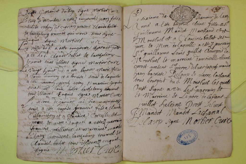 St André de Corcy AD BMS 1669-1730 vue 069