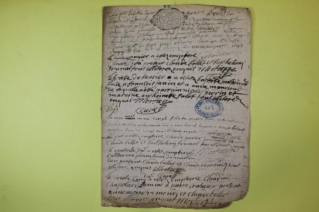 St André de Corcy AD BMS 1669-1730 vue 077