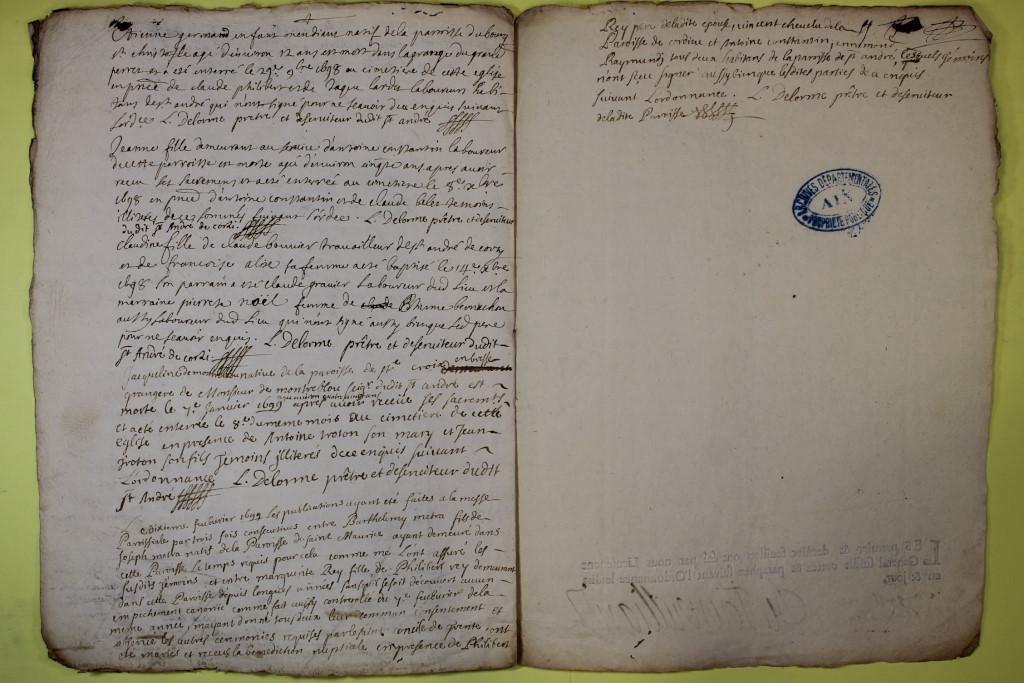 St André de Corcy AD BMS 1669-1730 vue 089