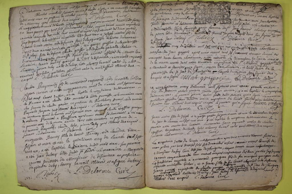 St André de Corcy AD BMS 1669-1730 vue 100