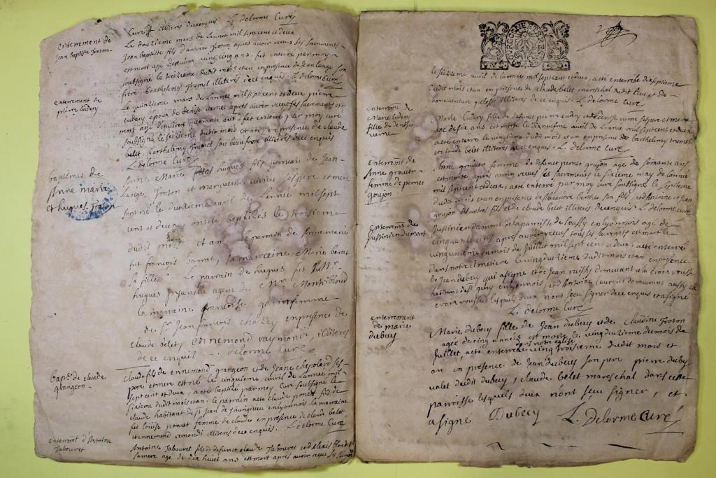 St André de Corcy AD BMS 1669-1730 vue 104