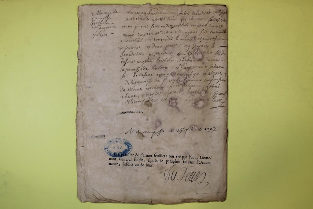 St André de Corcy AD BMS 1669-1730 vue 107