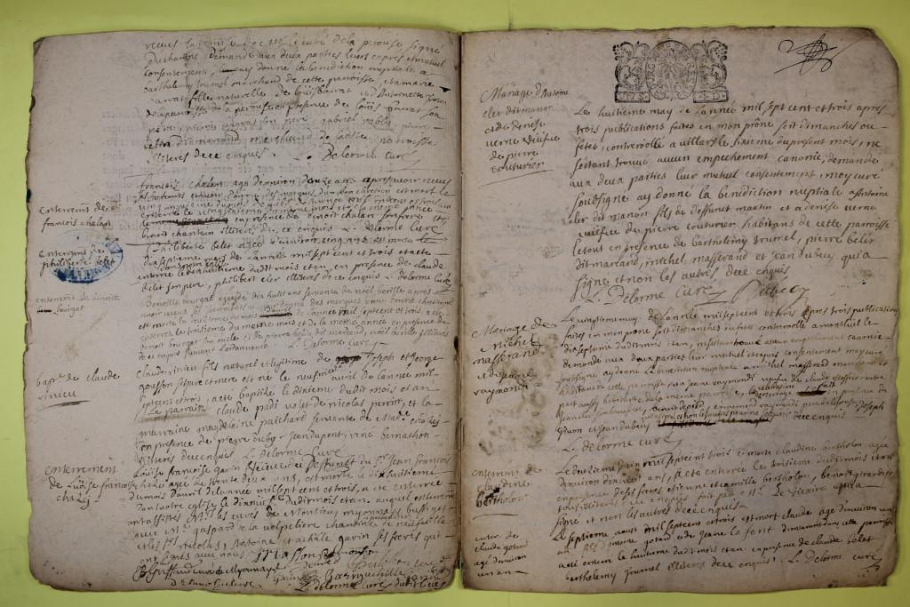 St André de Corcy AD BMS 1669-1730 vue 109