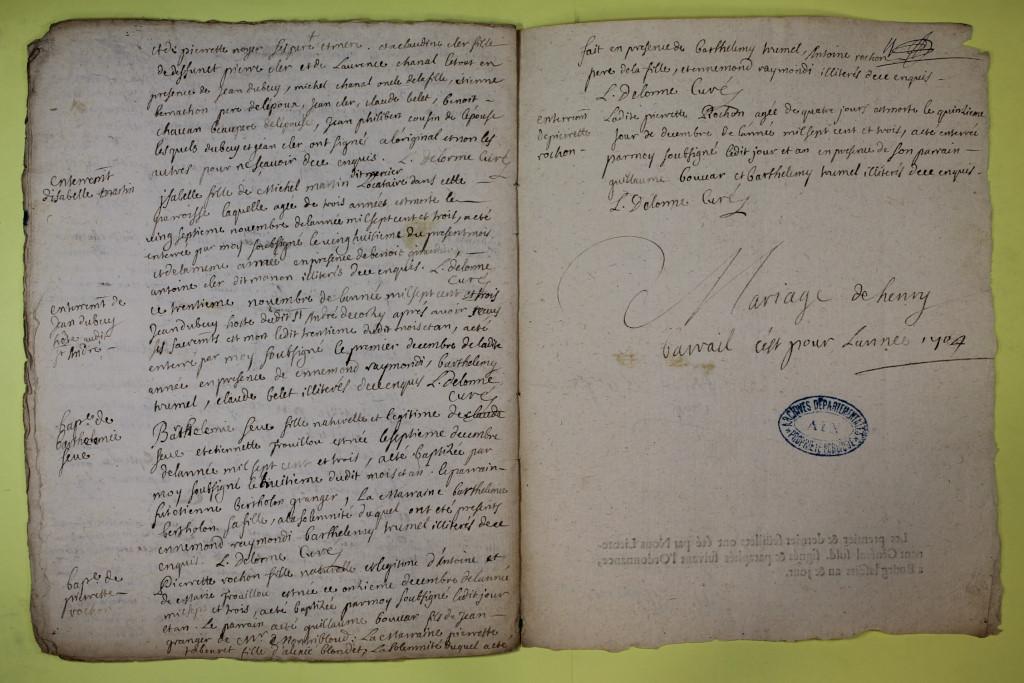 St André de Corcy AD BMS 1669-1730 vue 111