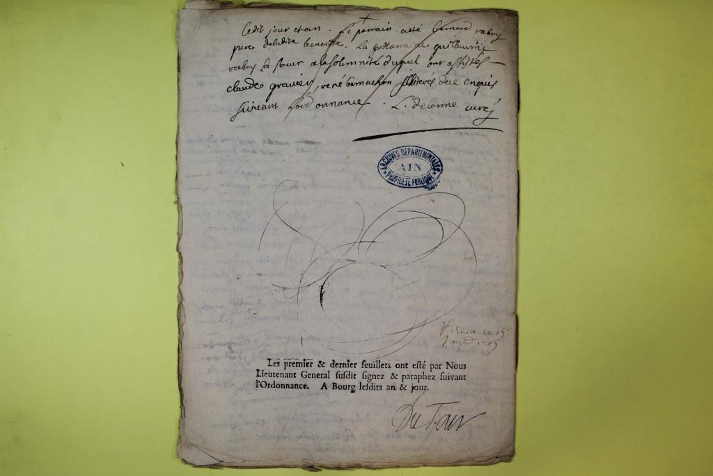 St André de Corcy AD BMS 1669-1730 vue 116