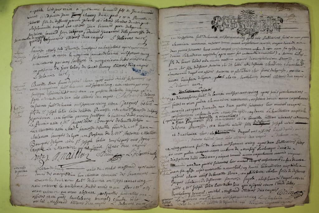 St André de Corcy AD BMS 1669-1730 vue 118