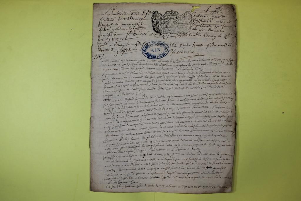 St André de Corcy AD BMS 1669-1730 vue 124
