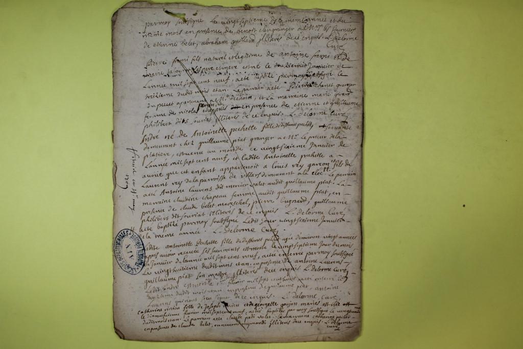 St André de Corcy AD BMS 1669-1730 vue 130