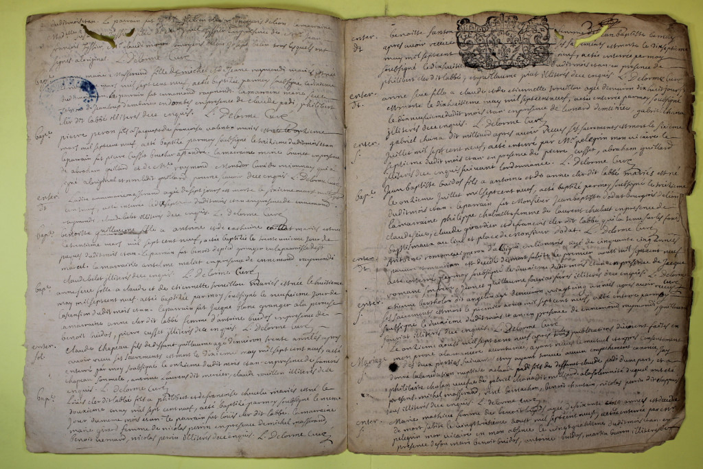 St André de Corcy AD BMS 1669-1730 vue 132