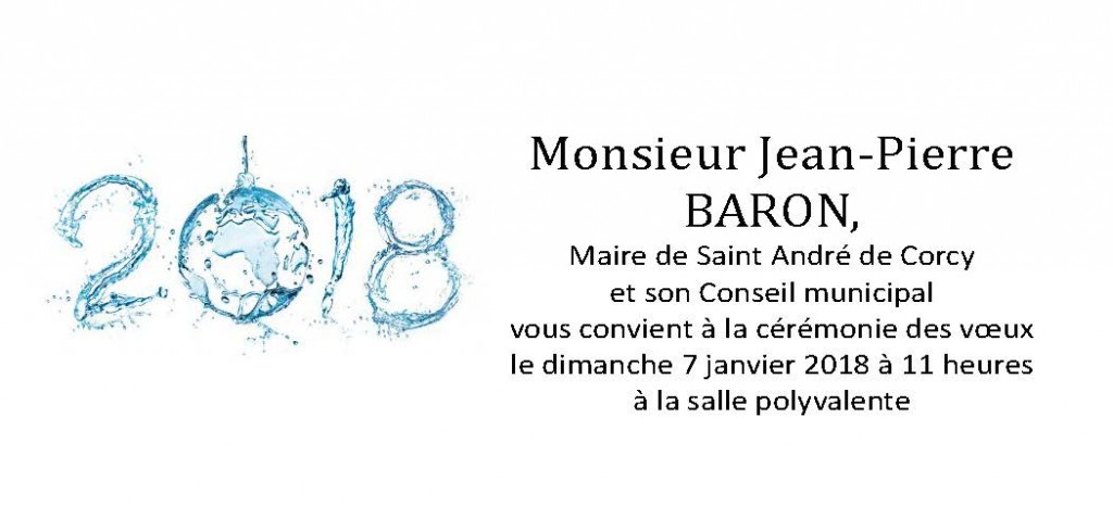 invitation voeux 2018